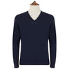 Kendrick Navy V-Neck Long Sleeve Pullover