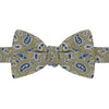 Green and Navy Paisley Printed Silk Bow Tie