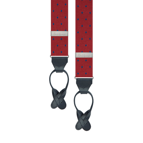 Red and Navy Spot Brace