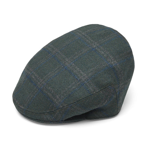 Heydon Green and Blue Exclusive Check Flat Cap