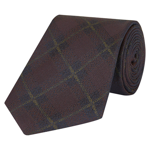 Brown and Yellow Melange Silk Tie