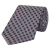Pink and Navy Geo Diamond Silk Tie