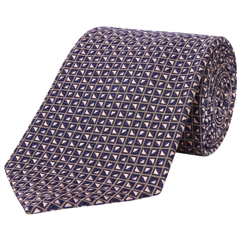 Purple Geo Diamond Silk Tie