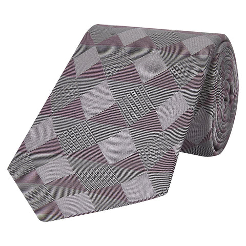 Purple Geo Square Silk Tie