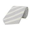 Pink Stripe Grenadine Sateen Woven Silk Tie