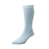 Pembrey Light Blue Sea Island Cotton Sock
