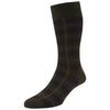 Greenwich Burgundy Tartan Socks
