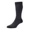 Buckley Navy Birdseye Jacquard Motif Socks