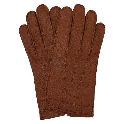 Tan Peccary Cashmere Lined Glove