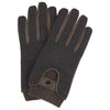 Brown Twill Deerskin Leather Gloves