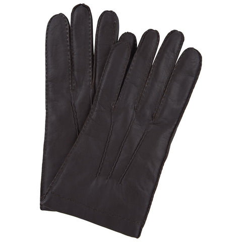 Brown Touchscreen Hairsheep Leather Gloves