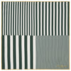 Green Gradient Stripe Printed Silk Pocket Square