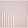 Pink Gradient Stripe Printed Silk Pocket Square