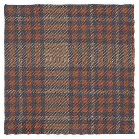 Orange and Purple Tartan Woven Pocket Square
