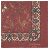 Red Woodland Print Silk Pocket Square