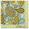 Yellow and Mint Turtle Silk Printed Pocket Square