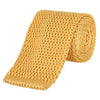 Yellow Heavy Gauge Knitted Silk Tie