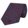 Purple and Blue Paisley Diamond Woven Silk Tie