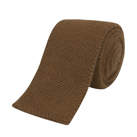 Orange Knitted Cashmere Tie