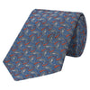 Blue Decorative Paisley Jacquard Twill Woven Silk Tie