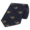 Navy Novelty Crab Jacquard Woven Silk Tie