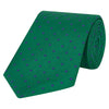 Green and Navy Textured Spot Woven Silk Tie