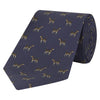 Navy Novelty Dog Printed Silk Tie