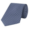 Blue Circle Geometric Woven Silk Tie