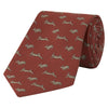 Orange Running Hare Jacquard Woven Silk Tie