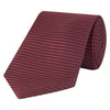 Red and Navy Textured Heavy Twill Woven Silk Tie