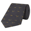 Green Flying Duck Jacquard Woven Silk Tie
