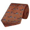 Orange Herringbone Shark Woven Silk Tie