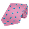 Pink and Blue Turtle Printed Silk Tie