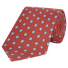 Red and Blue Flower Printed Silk Tie