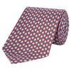 Red and Blue Acorn Printed Silk Tie