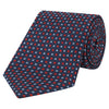 Navy and Red Geo Diamond Woven Silk Tie