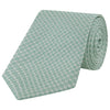 Green Circle Grid Woven Silk Tie