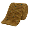 Yellow and Green Spot Heavy Gauge Knitted Silk Tie