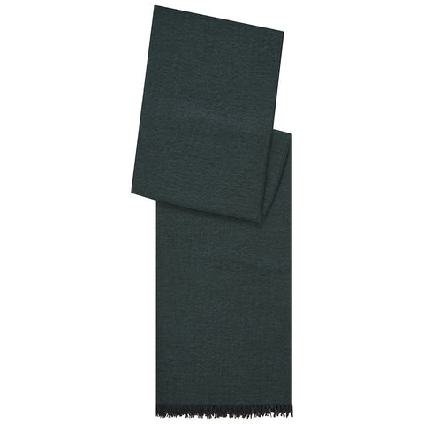 Lightweight Green Cashmere and Silk Scarf