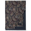 Navy Paisley Double Sided Wool Scarf
