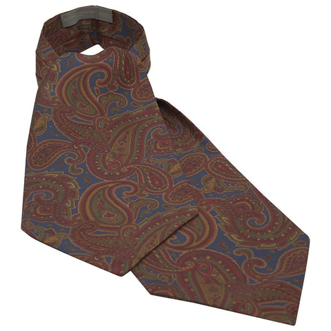 Blue Antique Paisley Silk Cravat