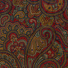 Red and Navy Large Medallion Paisley Printed Silk Cravat