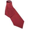 Burgundy Polka Dot Printed Silk Cravat