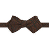 Orange and Brown Medallion Floral Woven Bow Tie