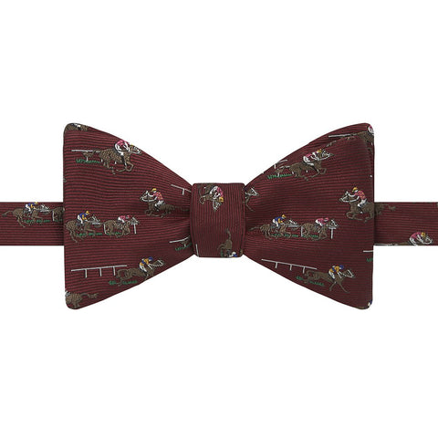 Red Novelty Horse Silk Bow Tie