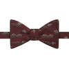 Red Novelty Horse Wool and Silk Bow Tie