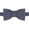 Blue and Red Paisley Woven Silk Bow Tie