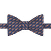 Navy and Pink Novelty Beetle Car Jacquard Silk Bow Tie