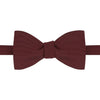 Berry Grosgrain Silk Bow Tie
