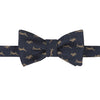 Navy Running Hare Butterfly Bow Tie